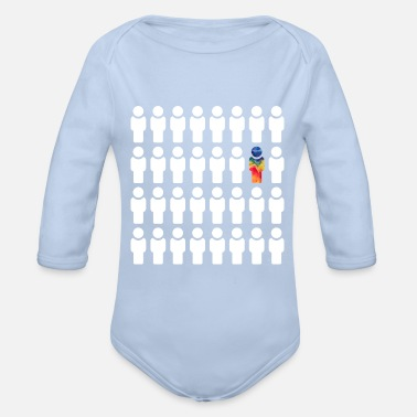 Different Be different / be different - Organic Long-Sleeved Baby Bodysuit