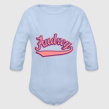 Personalised Audrey- T-shirt Personalised with your name - Organic Longsleeve Baby Bodysuit