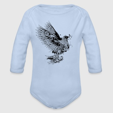 dove with branch in its beak - Organic Longsleeve Baby Bodysuit