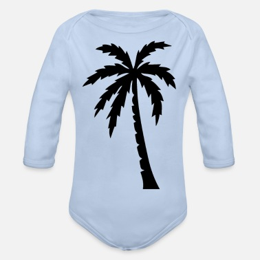 Palm Palm palm trees - Organic Long-Sleeved Baby Bodysuit