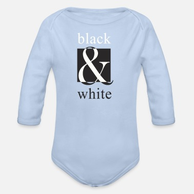Black And White black and white, black and white - Organic Long-Sleeved Baby Bodysuit