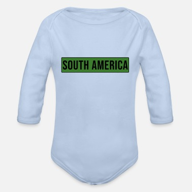 South America South America - South America - Organic Long-Sleeved Baby Bodysuit