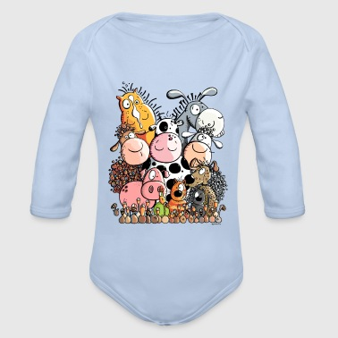 Farm Animal Funny Farm Animals - Organic Longsleeve Baby Bodysuit