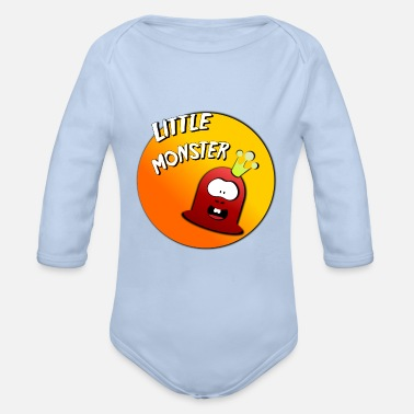 Enfant Child Enfants Children Niño Niños Little monster 2 - Body Bébé bio manches longues
