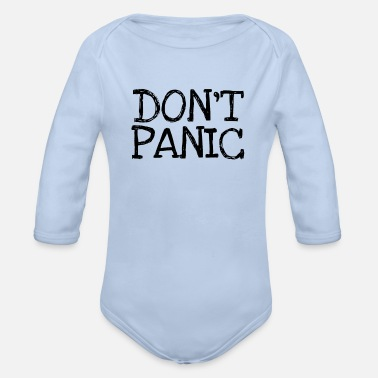 Don't Panic Don't panic - Organic Long-Sleeved Baby Bodysuit