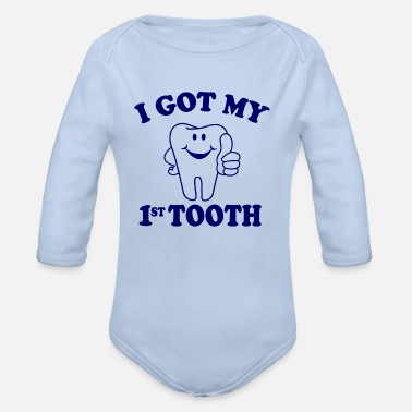 Tooth first tooth - Baby Bio Langarmbody