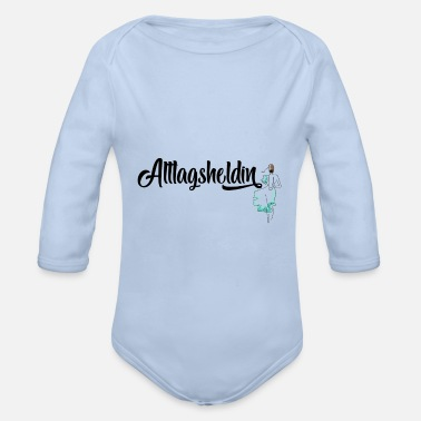 Everyday Life Hero of everyday life - Organic Long-Sleeved Baby Bodysuit