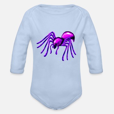 Arachnophobia Spiders friends have no arachnophobia - Organic Long-Sleeved Baby Bodysuit