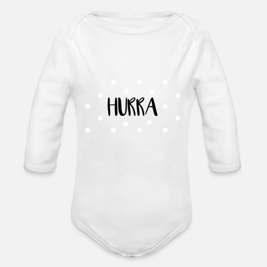 Hip HIP HIP HOORAY - Organic Long-Sleeved Baby Bodysuit