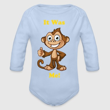 Cheeky Monkey - Thumbs Up - Organic Longsleeve Baby Bodysuit