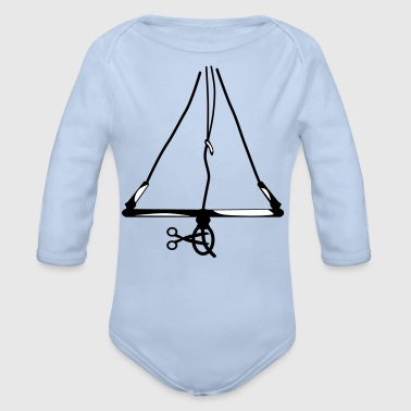 Cut off my chicken .... Kitesurfing Bar - Organic Longsleeve Baby Bodysuit