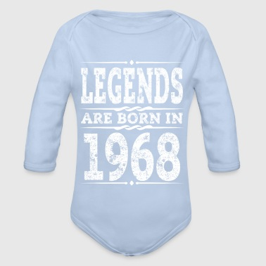 Year 1968 Born Gift 50th Birthday T-Shirt - Organic Longsleeve Baby Bodysuit