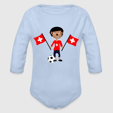 Swiss fan - Økologisk langermet baby-body