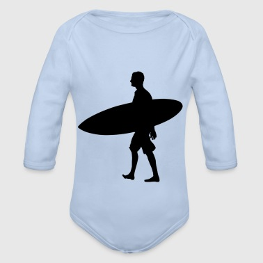 Man Surf Board - Baby Bio-Langarm-Body