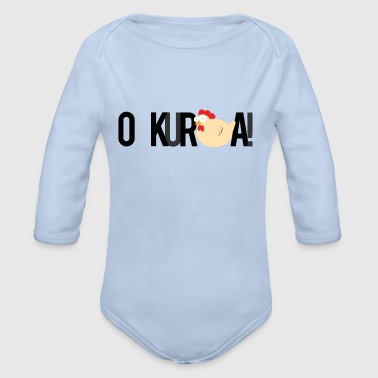Oh, and the hens *! - Organic Longsleeve Baby Bodysuit