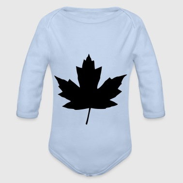 maple leaf - Organic Longsleeve Baby Bodysuit