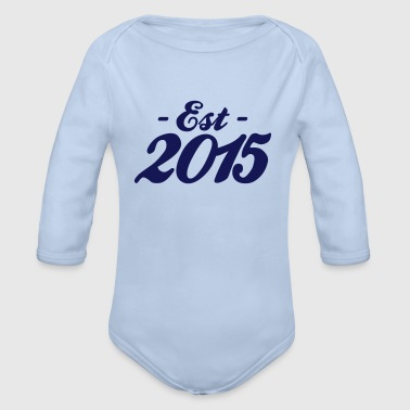 established 2015 baby birth - Organic Longsleeve Baby Bodysuit
