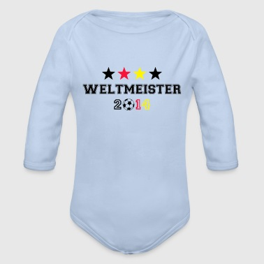 Weltmeister 4 Sterne 2014 - Baby Bio-Langarm-Body