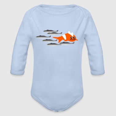 against the current  - Organic Longsleeve Baby Bodysuit