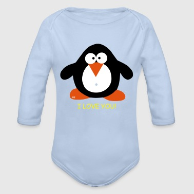 Penguin Winter Ice Xmas Fun Humor Lover - Baby bio-rompertje met lange mouwen