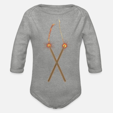 Fire Drum Sticks - Baby Bio Langarmbody