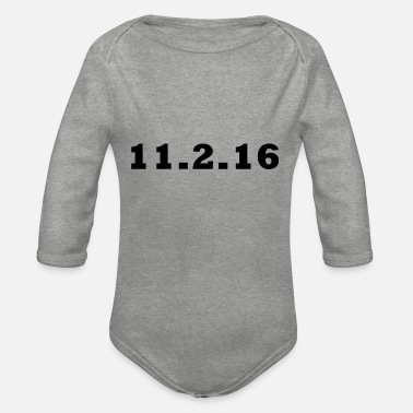 Lucky Number Lucky Numbers: 11.2.16 - Organic Long-Sleeved Baby Bodysuit