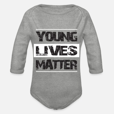 Life Matters YOUNG LIFES MATTER - Organic Long-Sleeved Baby Bodysuit