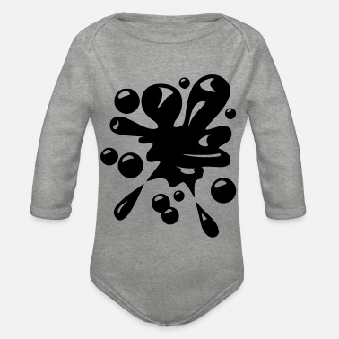 Blob of motif to print on hoodie or t-shirt - Organic Long-Sleeved Baby Bodysuit