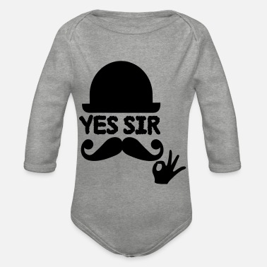 Sir sir - Organic Long-Sleeved Baby Bodysuit