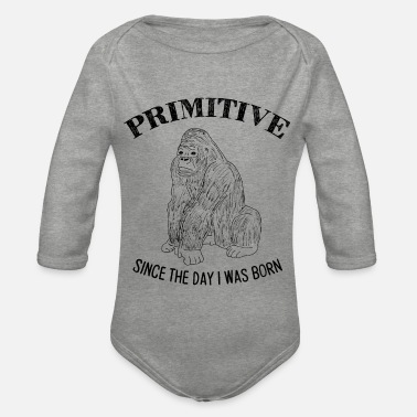 Primitive Man Primitive - Organic Long-Sleeved Baby Bodysuit