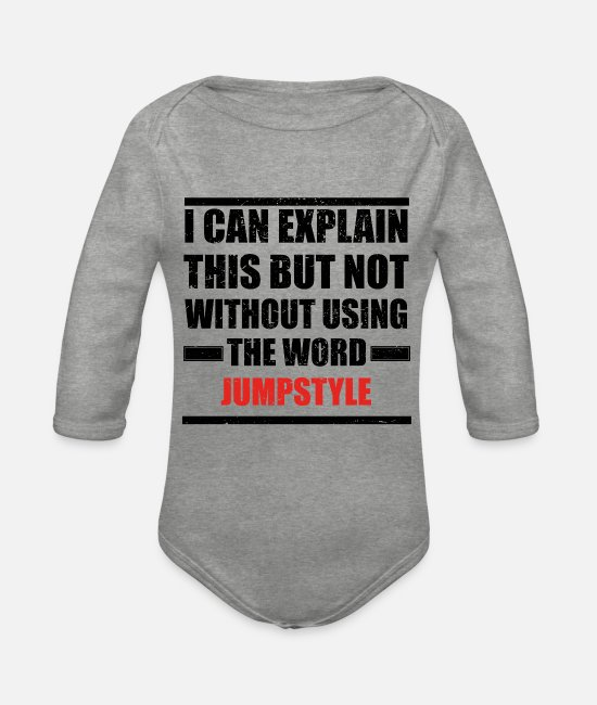 Jumpstyle Baby Bodysuits - Can explain relationship born love JUMPSTYLE - Organic Long-Sleeved Baby Bodysuit heather grey