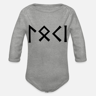 Loki - god of pranksters - Organic Long-Sleeved Baby Bodysuit