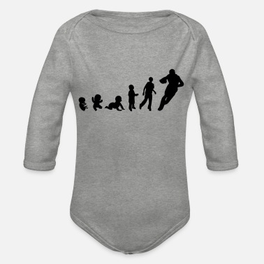 Rugby Evolution human rights rugby sports - Organic Long-Sleeved Baby Bodysuit