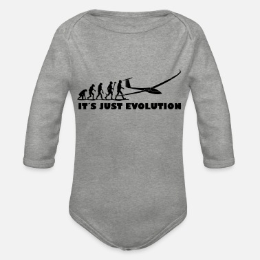 Pilot evolution gliding glider pilot - Organic Long-Sleeved Baby Bodysuit