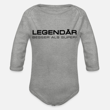 Legendary legendary - legendary - Organic Long-Sleeved Baby Bodysuit
