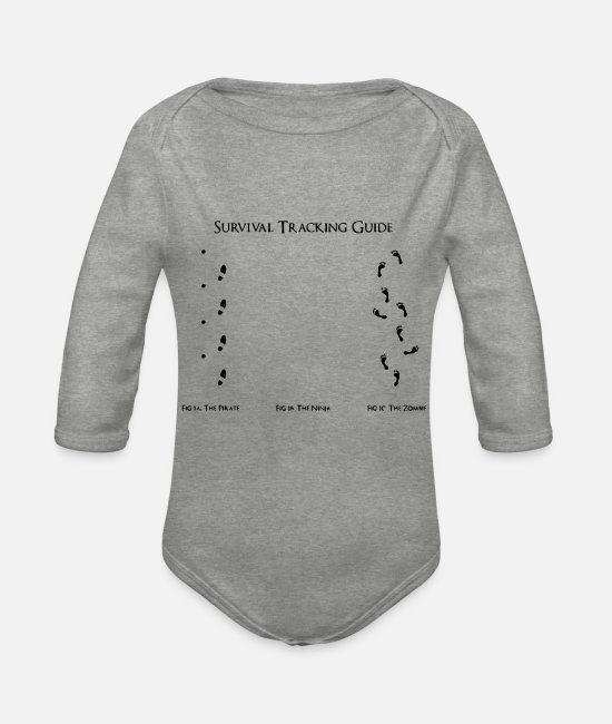 Search Baby Clothes - Guide - Organic Long-Sleeved Baby Bodysuit heather grey
