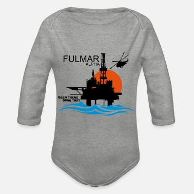 Fulmar Alpha Oil Rig Platform North Sea Aberdeen - Organic Long-Sleeved Baby Bodysuit