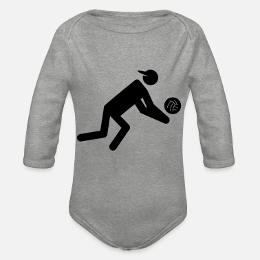 Volley volley - Organic Long-Sleeved Baby Bodysuit