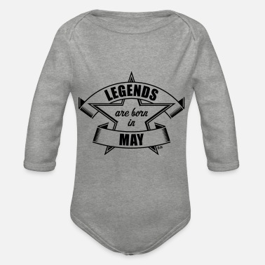 Heavy Legends are born in May (Anniversaire / Cadeau) - Body Bébé bio manches longues