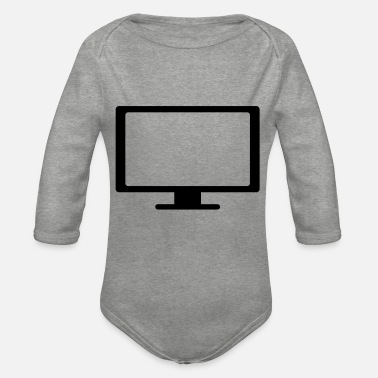 Screen screen - Organic Long-Sleeved Baby Bodysuit