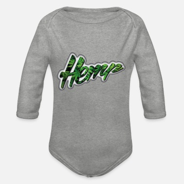 Ganja Hemp - Ganja - Marijuana - Organic Long-Sleeved Baby Bodysuit