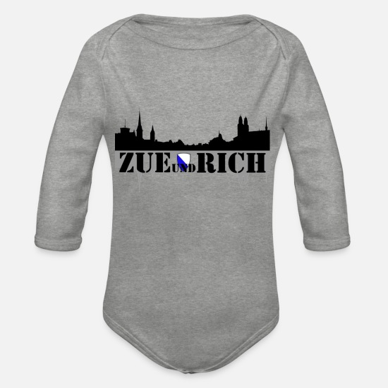 Travel Baby Clothes - zue and rich - Organic Long-Sleeved Baby Bodysuit heather grey