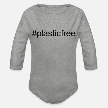 plastic free - Organic Long-Sleeved Baby Bodysuit