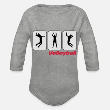 Pictogram Volleyball pictograms - Organic Long-Sleeved Baby Bodysuit