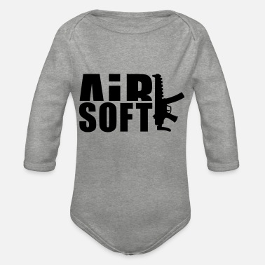 Airsoft airsoft_1__f1 - Organic Long-Sleeved Baby Bodysuit