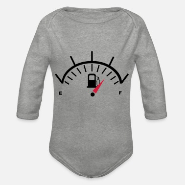 Fuel Fuel Gauge - Organic Long-Sleeved Baby Bodysuit