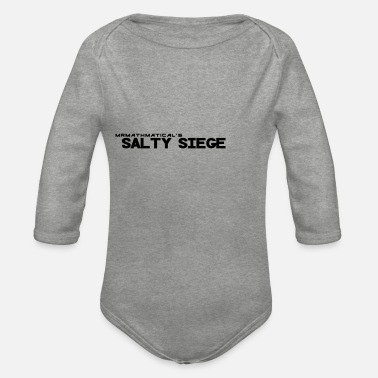 Sieg salty Siege Black - Organic Long-Sleeved Baby Bodysuit