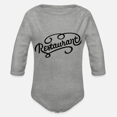 Restaurant restaurant - Organic Long-Sleeved Baby Bodysuit