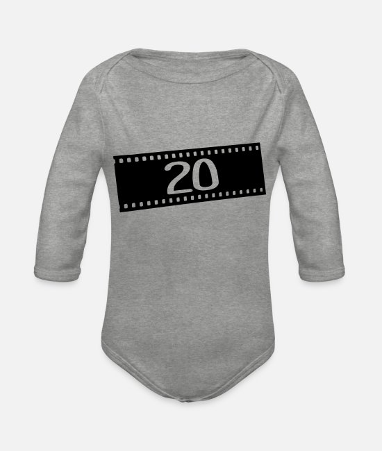 Photography Baby Bodysuits - Negativfilm-20 years - Organic Long-Sleeved Baby Bodysuit heather grey