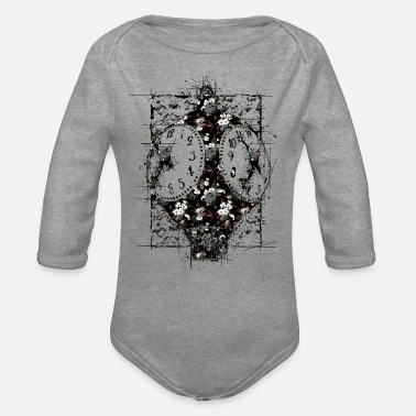 Clock clock | clock - Organic Long-Sleeved Baby Bodysuit